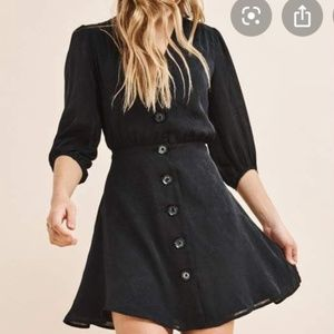 Dynamite Black Long Sleeve Jacquard Dress
